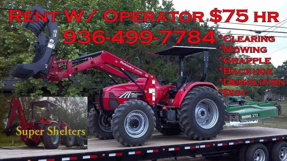 Big red tractor for rent